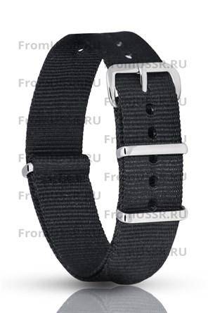 Нейлоновый ремень чёрный 18мм - фото 4697