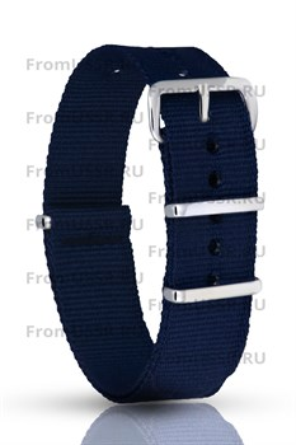 Нейлоновый ремень синий 18мм - фото 4698