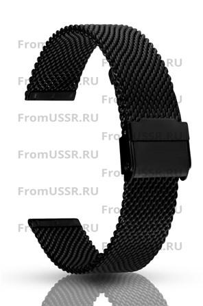 Миланский браслет чёрный 18 мм - фото 4904