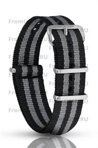 Нейлоновый ремень черно серый 18мм