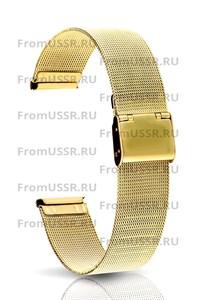 Миланский браслет золотистый 18 мм